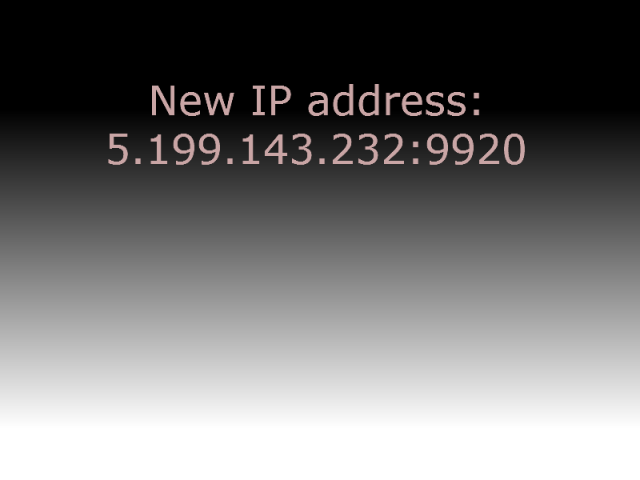 New IP Address